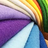 24pcs Thick 1.4mm Soft Felt Fabric Sheet Assorted