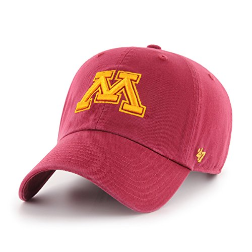 NCAA Minnesota Golden Gophers Clean Up Adjustable Hat, One Size, Cardinal