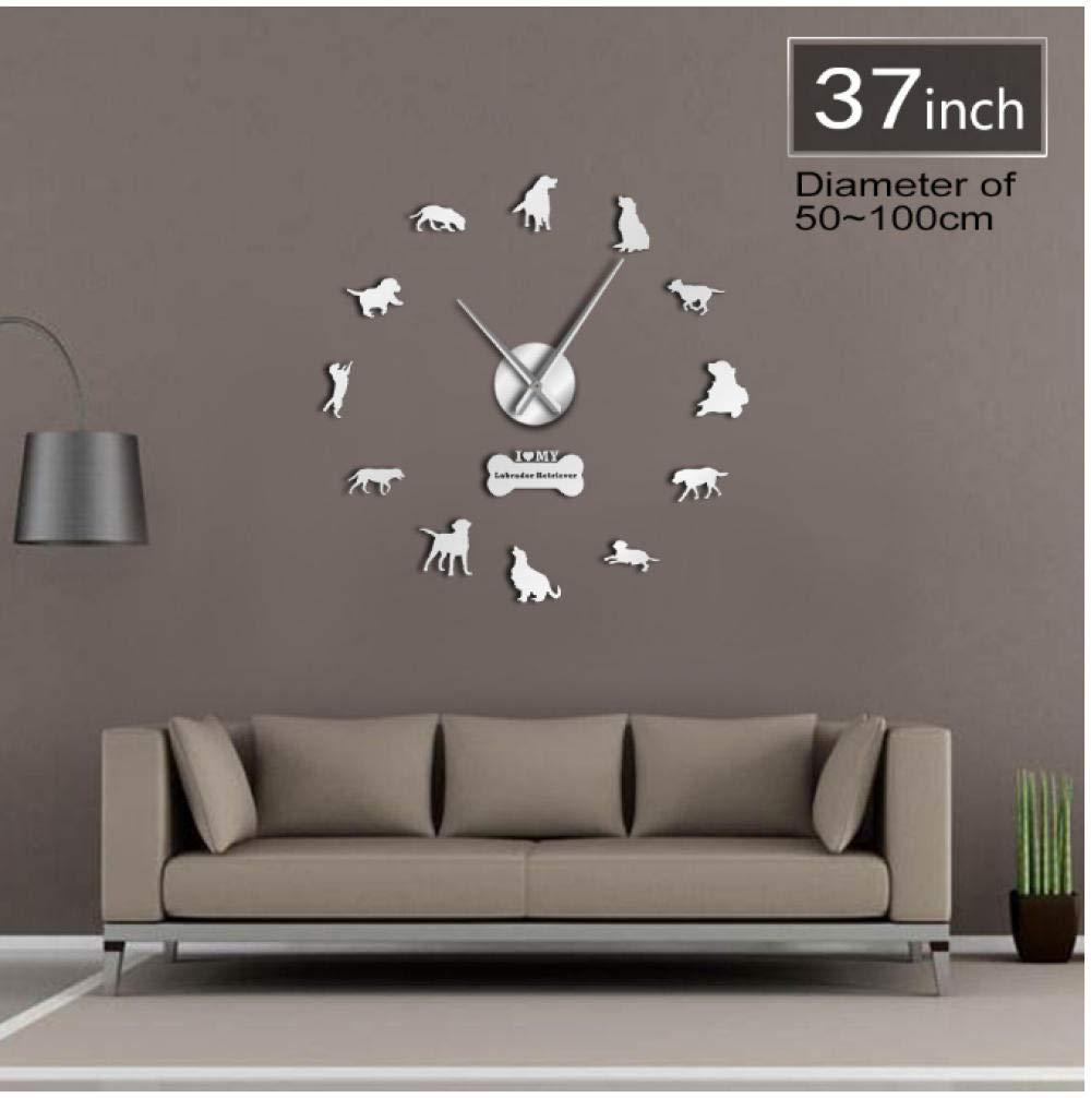 Horloge pianaiBB Murale Retriever Acrylique Reine Labrador ZOPukiX