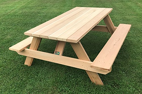 "Western Red Cedar 72"" Commercial, Rectangular Top Picnic Table"