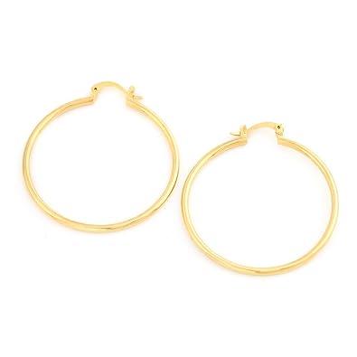 728f4b3102892 Amazon.com: Gold Plated Big Hoop Earrings Brass Jewelry Wholesale ...