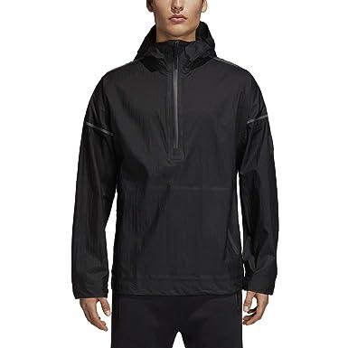 d33cb2ac50d57 Amazon.com  adidas Men s Hooded 1 2 Zip Icon Anorak Jacket  Clothing
