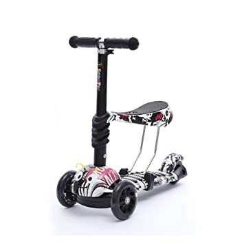 Patineta de 3 Ruedas para niños con luz LED Freestyle Mini Scooter,Graffiti (2