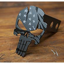 Subdued American Warrior - Punisher Trailer Hitch Cover