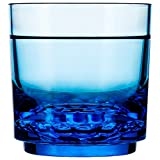 Drinique ELT-RK-BLU-24 Elite Rocks Unbreakable Tritan Whiskey Glasses, 10 oz (Case of 24), Blue