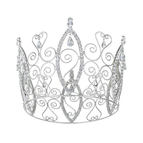 [DcZeRong Full Tiara Queen Crown 3-1/5