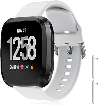 Yaspark Compatible con Fitbit Versa 2 Correa, Silicona Bandas Repuesto Ajustable Sport Accesorio Pulsera para Versa Lite/Versa Special Edition/ Versa 2: Amazon.es: Deportes y aire libre