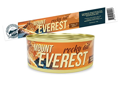 Can of Fresh Air - Mount Everest - Unique funny GAG gift and souvenir for Friends, Mom, Dad, Birthday Girl, Boy – fun and hilarious prank present idea in a (Funny Halloween Pranks Ever)