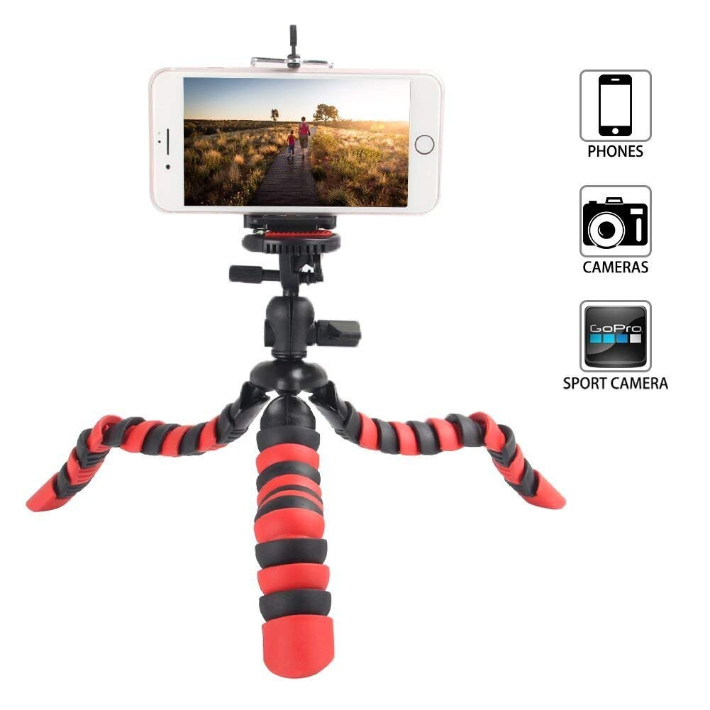 the latest c81e2 68057 60% discount on Tairoad 12-inch Portable Travel Selfie Bendable ...