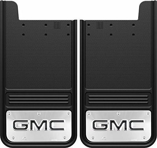 Rear Dually Pair Gatorback GMC Denali Truck Mud Flaps Black Wrap 21x24