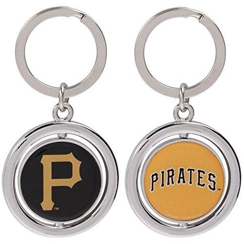 (FOCO MLB Pittsburgh Pirates Baseball Spinner Keychain, Black, One Size)