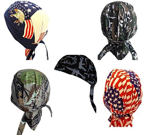 Doo Rag Du Cap Do Bandana Motorcycle American Flag Eagle Camo -