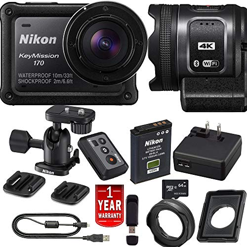 Nikon KeyMission 170 Action Camera Digital Bundle International Model