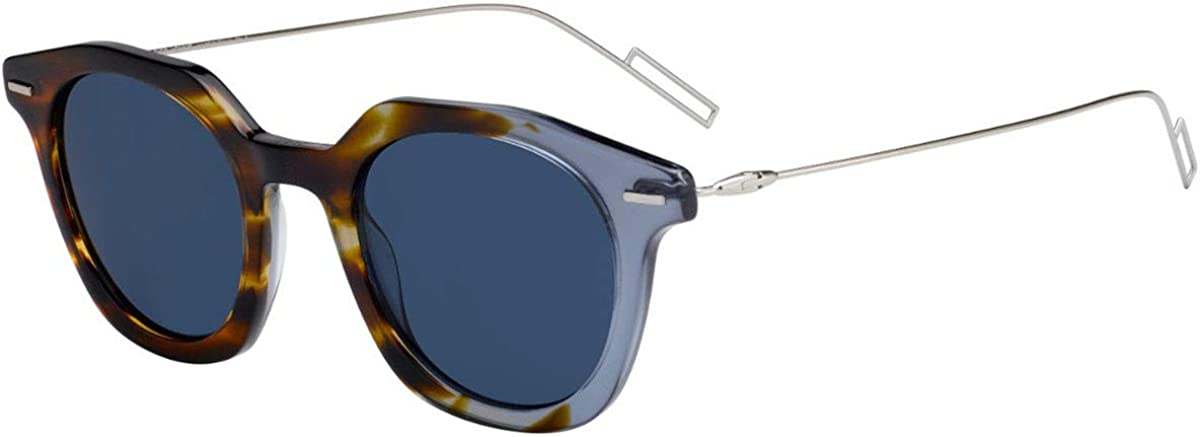 Christian Dior Homme DiorMaster Sunglasses Havana Grey w/Green Lens 47mm AB8KU Dior Master Dior Master/S DiorMaster/S