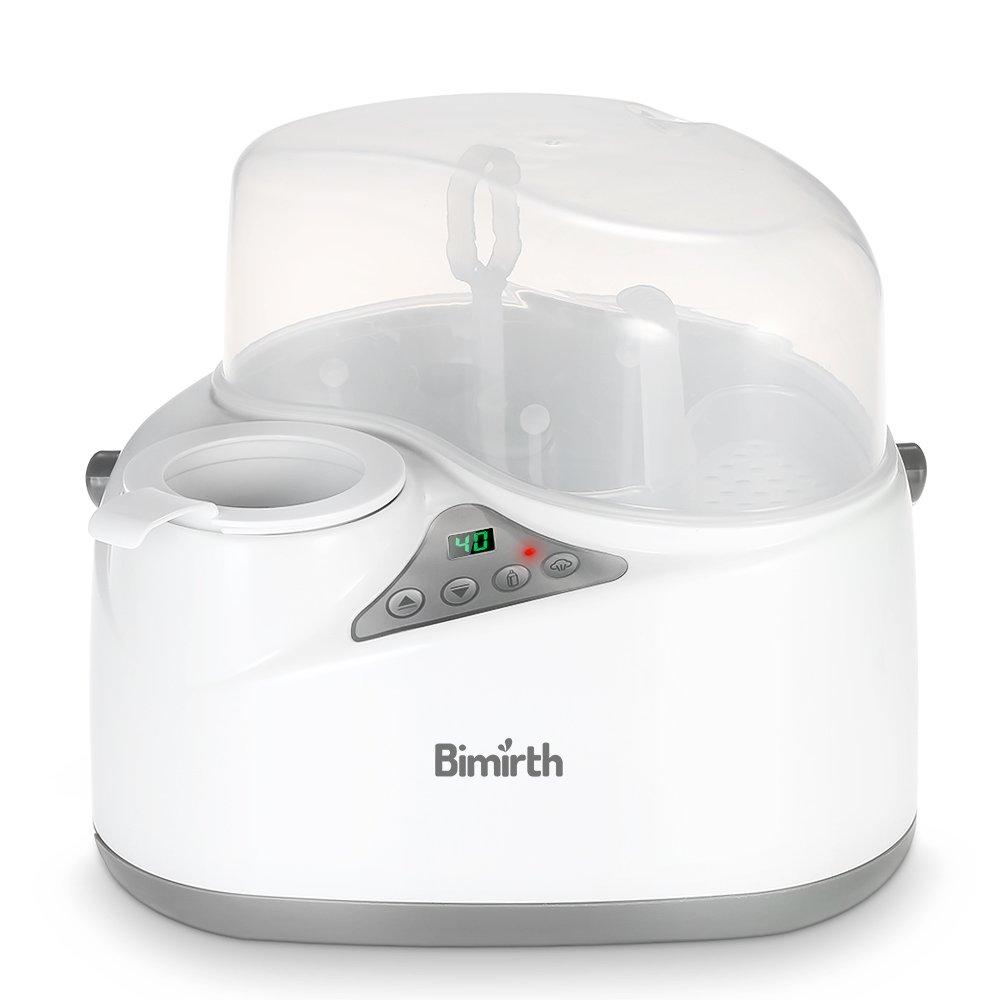 Anself Bimirth Elettrico Scalda Sterilizzatore Latte Scaldabiberon Sicuro Privo di BPA Multifunzione
