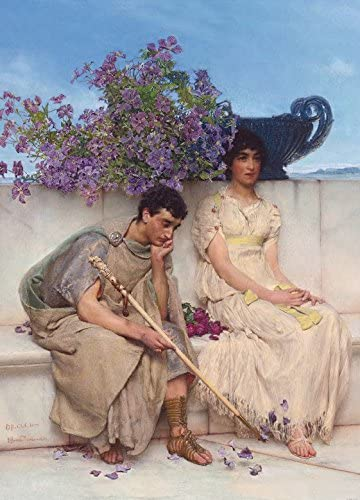1art1 Sir Lawrence Alma Tadema Poster Adhesive Photo Wallpaper An Eloquent Silence 1890 2 Parts 98 X 71 Inches Furniture Decor