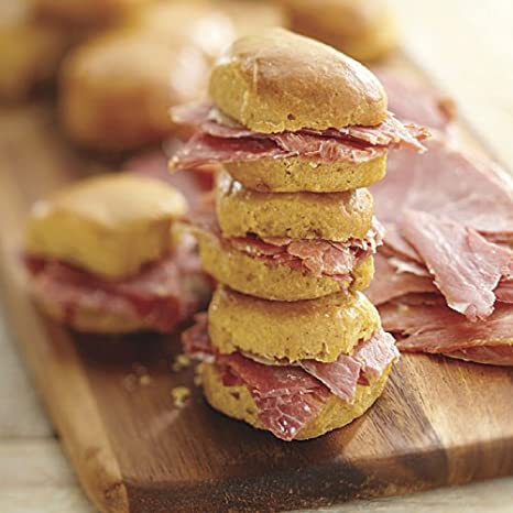Sliced Country Ham with Sweet Potato Biscuits (Two Dozen) Smithfield Hams