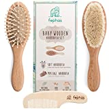 Wooden Baby Hair Brush and Comb Set| Eco friendly Hairbrush...