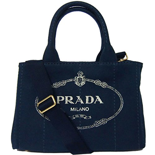 プラダ PRADA トートバッグ 1BG439 ロゴ カナパ ショッピング 2WAY トート CANAPA / BALTICO 【アウトレット】 [並行輸入品] B07CQXMKG5