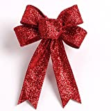 Christmas Charms Decoration Ornaments Ribbon Bows Bowknots Festival Supplies by Qisc (Red)