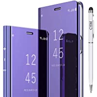 Capa para celular Samsung Galaxy S10 Plus, capa de luxo giratória e espelhada, com suporte galvanizado, capa inteligente…