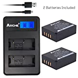 ARCHE NP-W126 NPW126s <2 Pack> Replacement Battery and LCD Dual USB Charger KIT for [Fujifilm FinePix HS30EXR, HS50EXR, X100F X-A1 X-A3 X-A5 X-E1 X-E2 X-E2S X-M1 X-T1 X-T2 X-T10 X-T20 X-Pro1 X-Pro2]