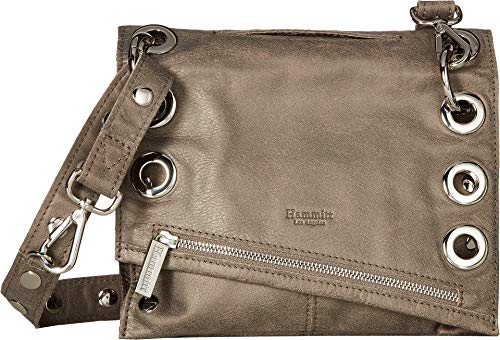 Hammitt Womens Pewter Silver Roxbury Crossbody Bag P4O61CRPn