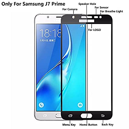 best sneakers 68995 c15b8 Cassiey Samsung Galaxy J7 Prime 3D Edge To Edge Full Front Body Cover  Tempered Full Glass Screen Protector Guard For Samsung Galaxy J7 Prime  -Black