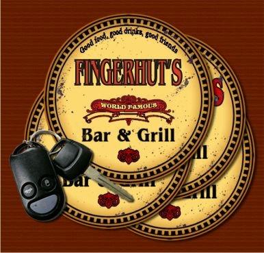 Fingerhuts World Famous Bar   Grill Coasters   Set Of 4