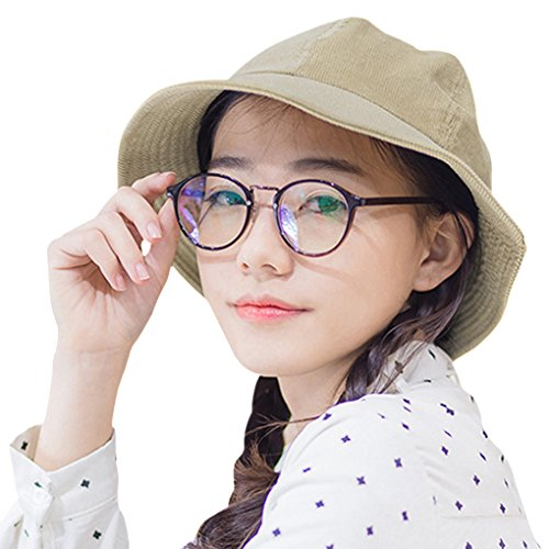 [Fashion Corduroy Boonie Bucket Hat for Women Ladies Girls, Packable Cloche Fedora Travel Beach Hip-Hop Fishing Hiking Floppy Bucket Sun Hat Solid Color Fisherman Cap Billycock Cap Homburg] (Hip Hop Felt Hat With Feather)
