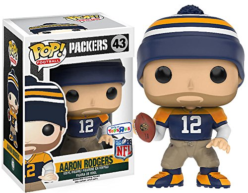 Aaron Rodgers Funko POP! NFL Toys R Us Exclusive Throw Back Jersey Figure ()