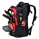 ASPENSPORT Laptop Bags for Men Women Travel Computer Notebook Backpacks High School College Students for Girls Boys Multi-Functional Pocket Trip Daypack Black/Red