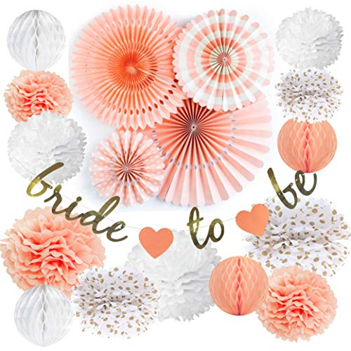 VIDAL CRAFTS Bridal Shower Decorations Set, Bachelorette Party Décor, Bride to Be Banner, Dessert Table Decoration Kit, Wedding Supplies for $<!--$17.95-->