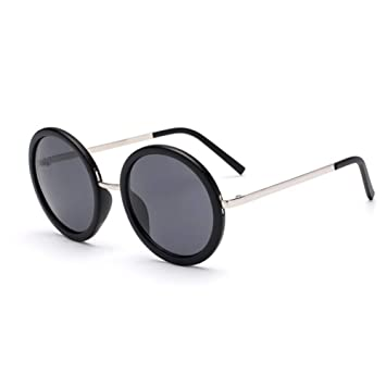 LETAM Gafas de sol Retro Gafas de Sol Redondas de Las ...