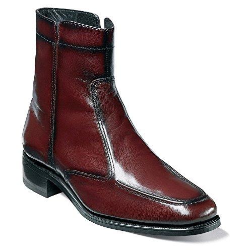 Leather 3E Essex Ankle Round Florsheim Blk Cherry Boot Toe Men xqEdxpX