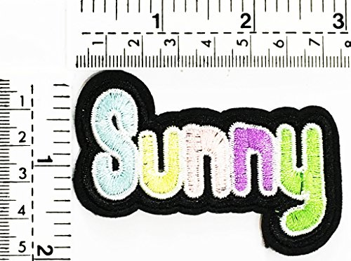 sunny weather joke funny word kids cartoon patch Applique for Clothes Great as happy birthday -