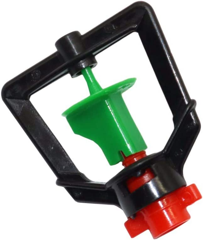 Waba Plastic Rotary Micro Sprayer Irrigation Garden Sprinkler, Standing Type for Watering Agricultural Irrigation Systems 10 pcs