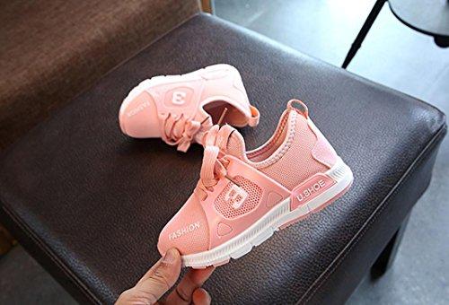 Hunpta Kleinkind Kinder Brief Soft Sport Laufschuhe Sneaker Baby Mesh Schuhe Rosa