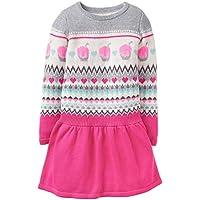 Gymboree Little Girls' Long Sleeve Winter Sweater Dress Fair Isle