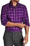 #4: Robert Graham Pepy's Long Sleeve Purple Woven Shirt Classic Fit