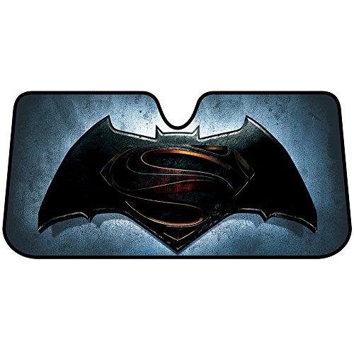 (Batman vs Superman Logo DC Comics Auto Car Truck SUV Vehicle Universal-fit Front Windshield Sunshade - Accordion Sun Shade - FREE SHIPPING)