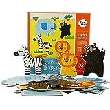 Joan Miro Floor Block Jigsaw Puzzle,Big Size Large Piece Cardboard Jigsaw,18 Pieces;Chunk Puzzles For Preschoolers Kids; Birthday Gift Play Toy (Wildlife)