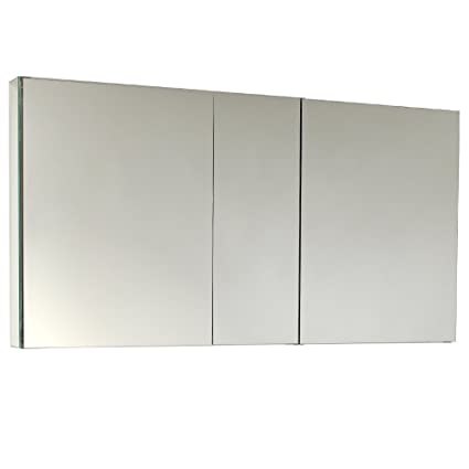 Fresca Bath FMC8013 50u0026quot; Wide Bathroom Medicine Cabinet With Mirrors