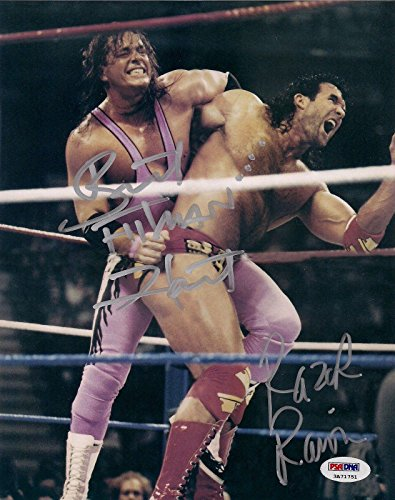 Bret Hart & Razor Ramon Signed WWF WWE 8x10 Photo COA Scott Hall Hitman - PSA/DNA Certified - Autographed Wrestling Photos