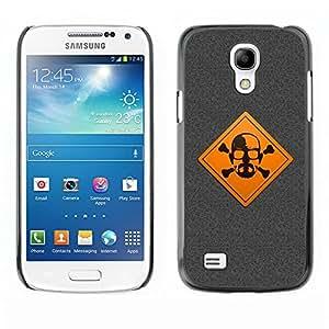 TopCaseStore / la caja del caucho duro de la cubierta de protección de la piel - Warning Meth Cook - Samsung Galaxy S4 Mini i9190 MINI VERSION!