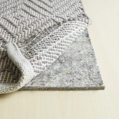 RUGPADUSA RPC38F-912 3/8'' Thick, Adds Cushioning and Floor Protection, Basics Felt Rug Pad, 9' x 12', Grey by RUGPADUSA