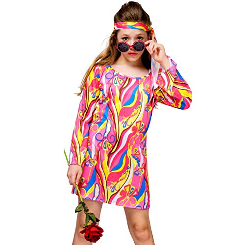 Kid's Girl 70's 80's Flower Hippie Disco Groovy Costume ()