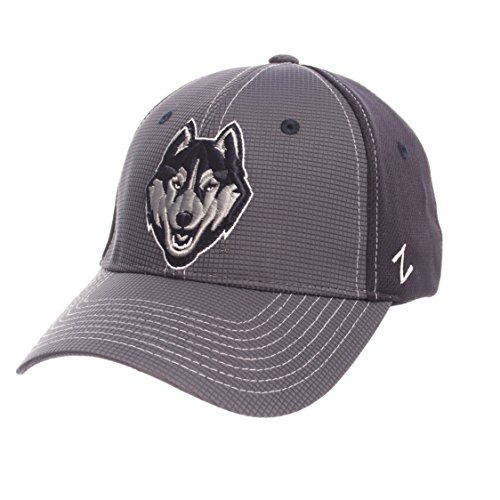 Zephyr NCAA Connecticut Huskies Adult Men Grid Cap, Medium/Large, Gray/Team Color