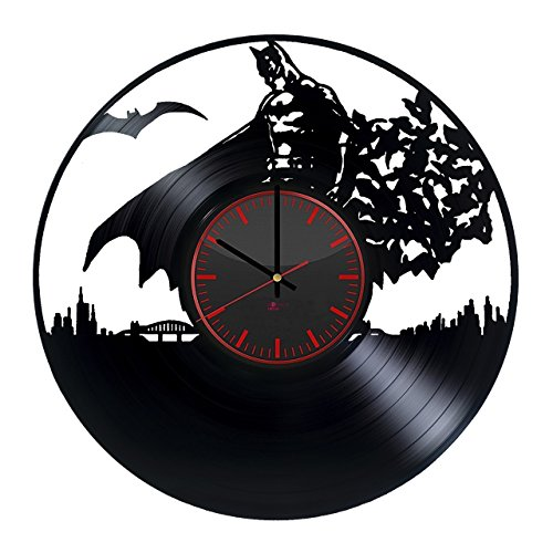 Batman HANDMADE Vinyl Record Wall Clock - Get unique home room wall decor - Gift ideas for boys – Unique Art Design