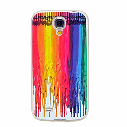 Colorful Protective Case (S4 Case,Samsung S4 Case,Galaxy S4 Case,ChiChiC full Protective Case slim durable Soft TPU Cases Cover for Samsung Galaxy S4 Galaxy S IV,colorful watercolor)